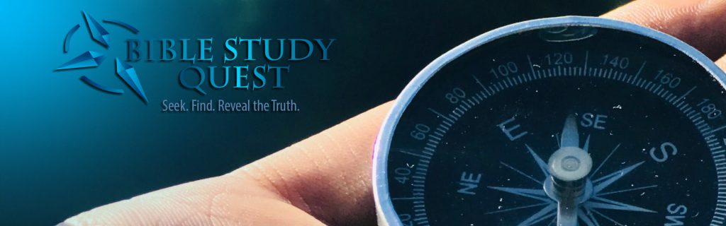 Compass with the Bible Study Quest Logo